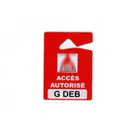 Accroche avec logo - Ref AC/RET-1C