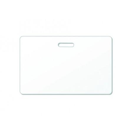 Carte PVC perforation oblongue