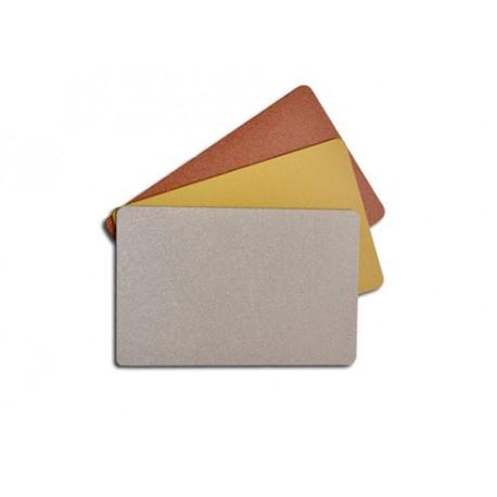 Carte PVC métallisée