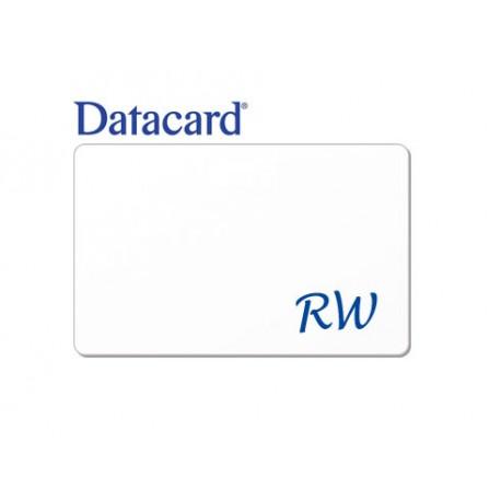 Carte RW écriture bleue