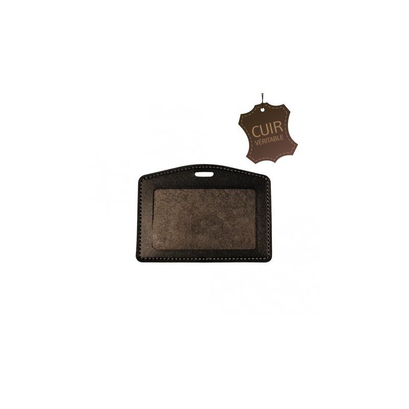 Badge Cuir - Porte badge cuir