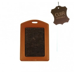 Porte-badge CUIR