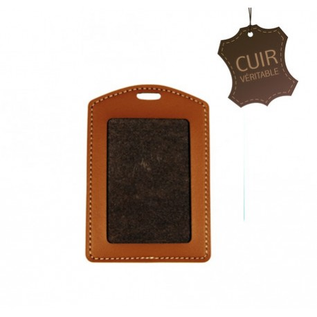 Porte-badge CUIR