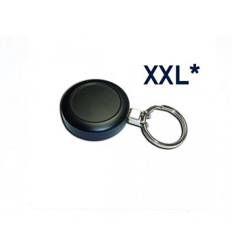 Metal black badge reel